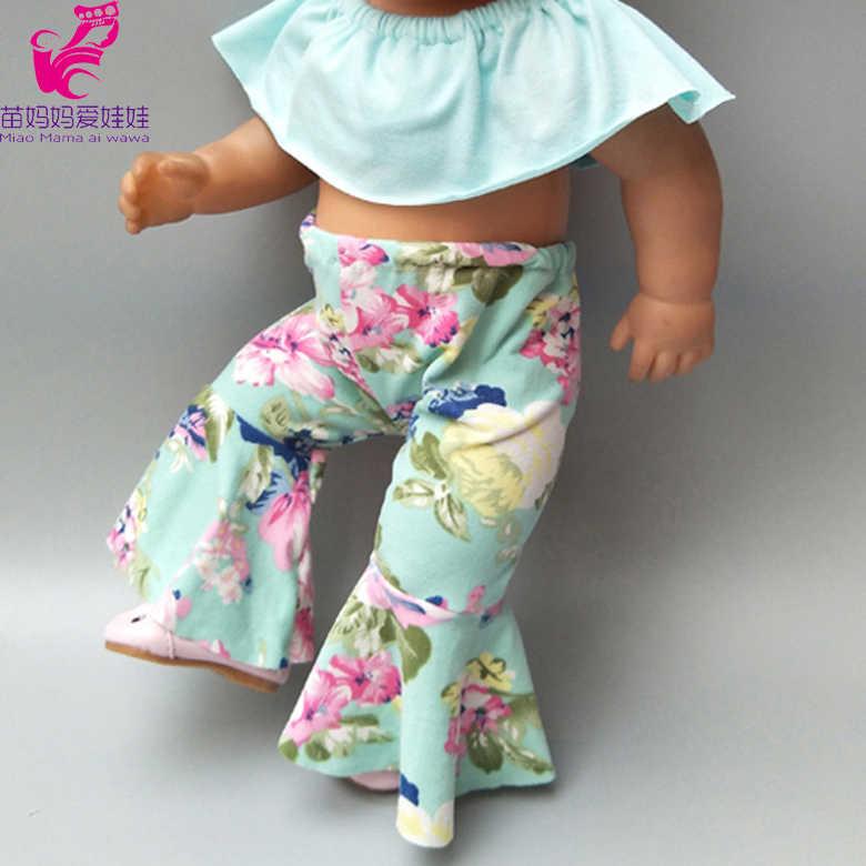 """בובות בגדי 43cm נולד תינוק בובת בגדים ארוך מכנסיים עבור 18 """"ילדה בובת תלבושת ילדי מתנת יום הולדת"""