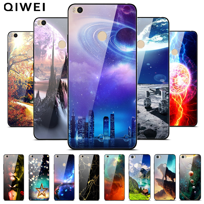 Capa Bumper Phone-Cases Back-Cover Tempered-Glass Silicone Mi Max2 Xiaomi For Mi-Max