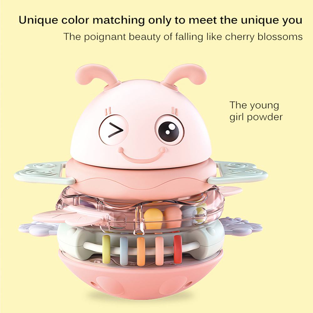 Kids Ploy Stacking Tumbler Toy Animals Music Teether Rattle Baby Sorting Stacking Game Toys Kids Learning Educational Toys Gifts