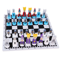 1 Set Travel Chess Set with Chess Board Educational Toys International Chess Chessman for Kids and Adults for Chess Games