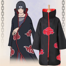 Naruto Cloak Anime Cosplay Disfraz Halloween Costumes For Kids Men аниме Ninja Sasuke Itachi Akatsuki Performance Party Clothing(China)