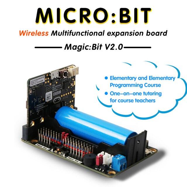 Carte dextension pour Microbit V2.0 prend en charge 8 Servos et 4 moteurs cc avec récepteur infrarouge intégré et 4 lumières couleur rvb