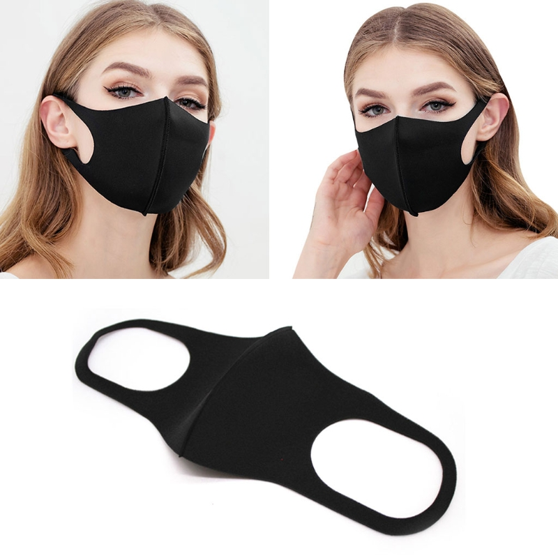 Fashion Dustproof Mouth Mask Breathable Sponge Unisex Sponge Elastic Earloop New Adult Kids Cycling Outoor Walking Sports Acces