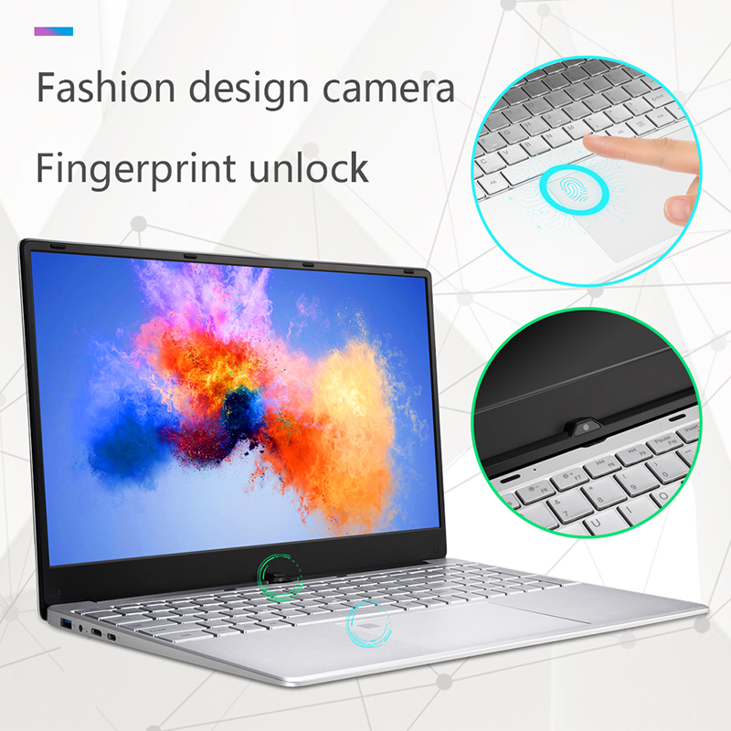 "Image 2 - 15.6"" Intel Core I3 5005U 8GB RAM laptop 256GB/512GB SSD 1920*1080 IPS HD screen gaming notebook with Fingerprint unlock-in Laptops from Computer & Office"