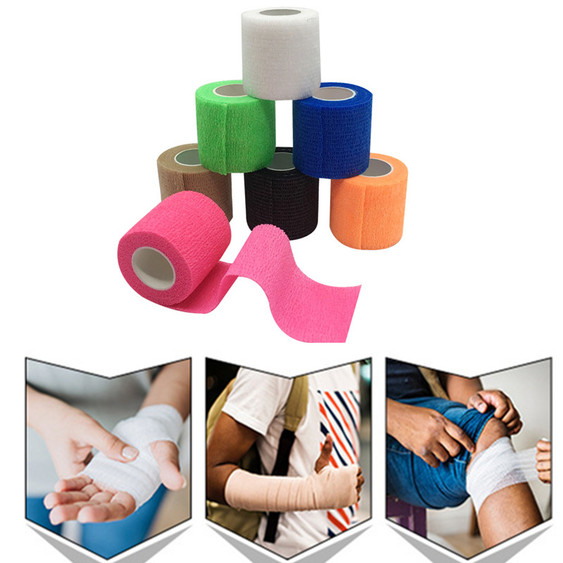 Disposable Tattoo Grip Bandage Self Adhesive Elastic Bandage For Handle With Tube Tightening Tattoo Accessories