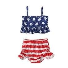 Одежда для купания маленьких девочек; Топ со звездами; Комплект