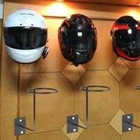 Motorrad Wand Montiert Wand Haken Hut Rack Helm Lagerung Halter Schwarz