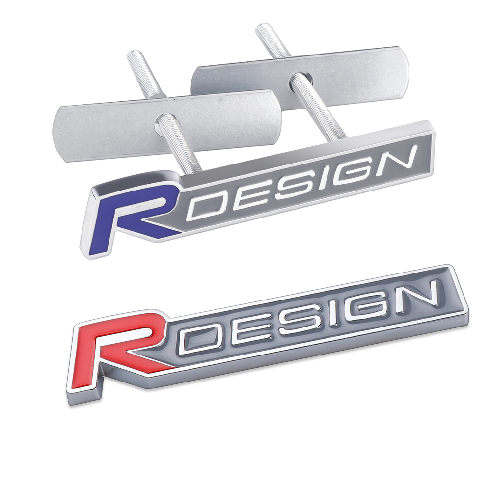 Car Styling New 3D Metal Rdesign Logo Front Grille Trunk Sticker Emblem Badge for Volvo V40 V60 C30 S60 S80 S90 XC60 Accessories