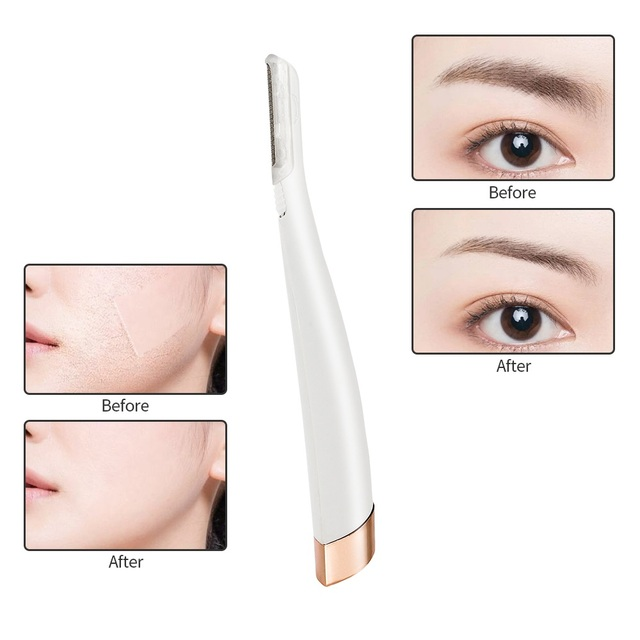 Face Hair Remover Lighted Facial Expoliator Electric Shaver Razor Face Hair Shaver Painless Exfoliates Dead Skin Neck Clean Tool 1