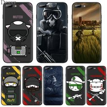 Ponsel Case untuk iPhone 5 5 S 6 6 S 7 7 Plus iPhone 11 Pro X XR XS Max XR Cover Perlindungan Rainbow Six Siege(China)