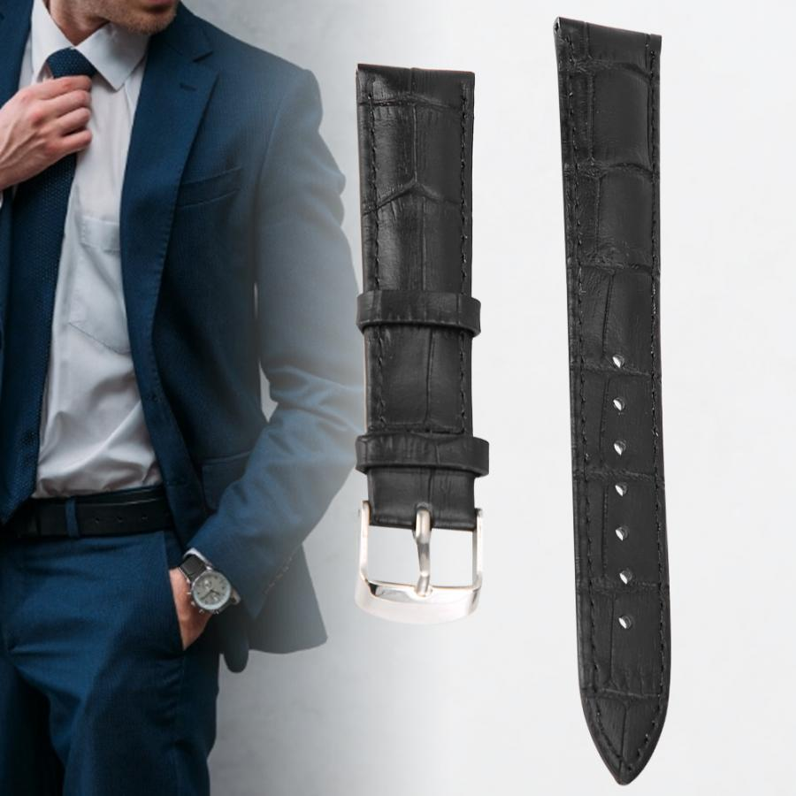 watch strap PU Leather Watchband Exquisite Adjustable Watch Strap Replacement Accessory Black watch accessories