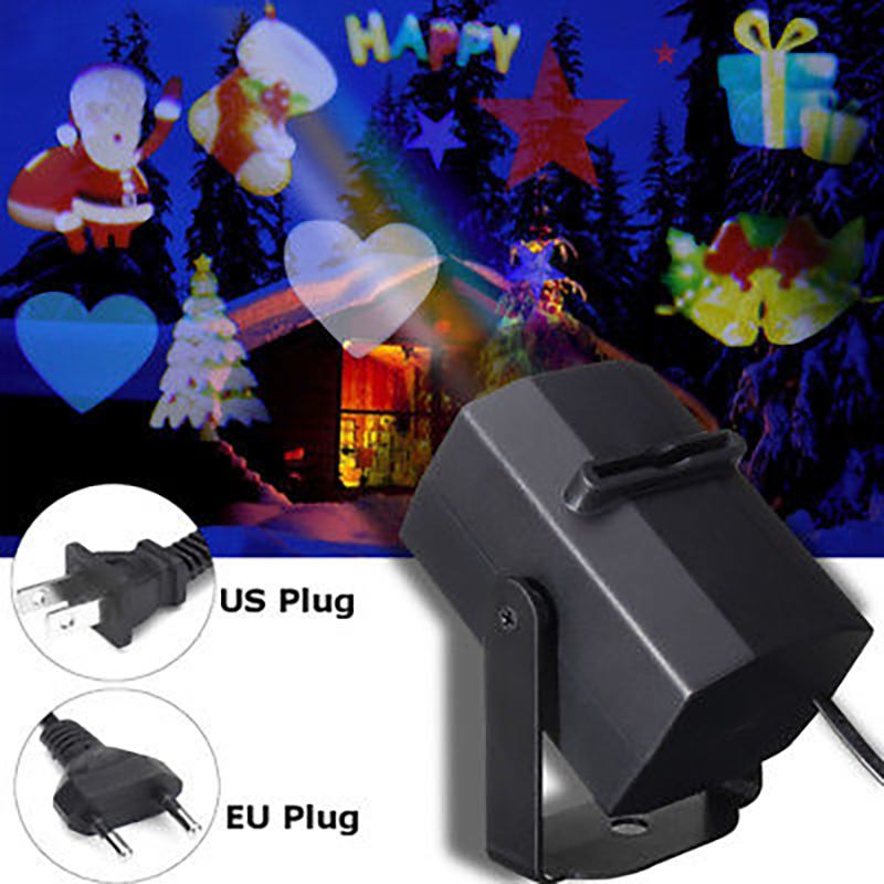 4 LED Laser Projector Lights Landscape Lamp Xmas Projector Lamp Portable Moving Stage Lights Christmas Snowflake Birthday KTV