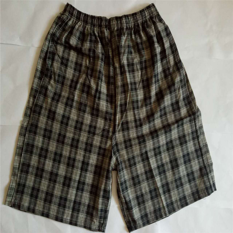 Middle-aged Cotton Plaid Beach Shorts Short Casual Large Size Trunks Booth Goods Household Swimming Sports Shorts