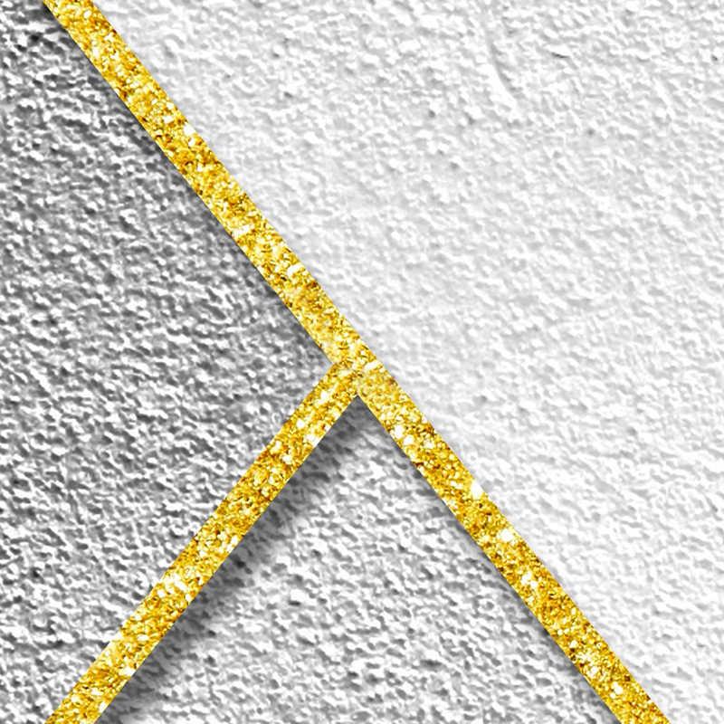 Custom Elke Grootte 3D Stereoscopische Reliëf Gouden Gestreepte Abstract Geometrische Muurschildering Woonkamer TV Achtergrond Behang Voor Muren