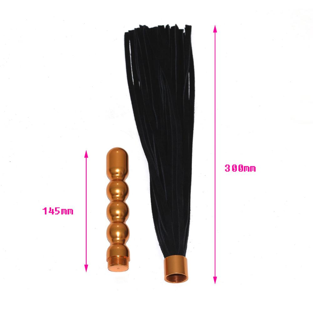 Double purpose anal plug Leather Whip Flogger Handle Spanking Paddle Flirt BDSM Bondage Sex Couples Adult Game in Adult Games from Beauty Health