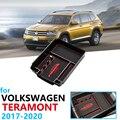 Автомобильный Органайзер  аксессуары для Volkswagen VW Teramont 2017 2018 2019 2020  подлокотник  коробка для хранения  коробка для монет  коробка для карт