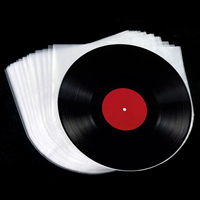 12 inch Vinyl Record Protecter LP Record Plastic Bags Anti-Static Record Sleeves Outer Inner Plastic Clear Cover Container 100Pc