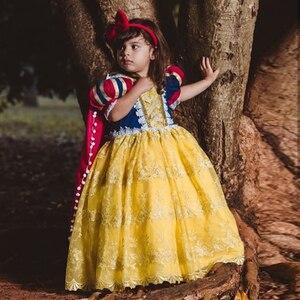 Праздничное Пышное Платье принцессы Анны и Анны, платье принцессы на день рождения, вечеринку, торт, накидка, желтое платье, vestidos de fiesta