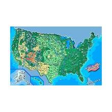 1шт холст США карта 84% 2A59см физический мир карта наклейка стена искусство рама страна живопись путешествия украшение