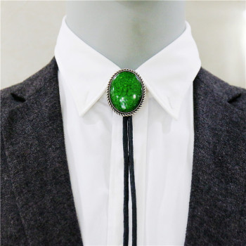 Collar Rope Vintage Green Bolo Tie Mens Gem Bow tie Ties For Men Necklace accessories Wedding Necktie