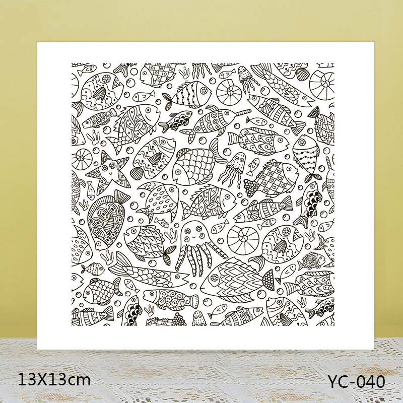 ZhuoAng fish Transparent seal sealed DIY scrapbook album decoration card seamless seal in Stamps from Home Garden