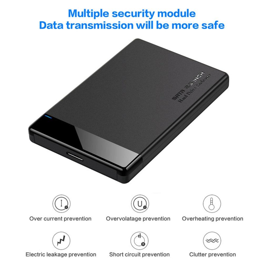 2.5 inch USB 3.0 SATA HDD SSD External Hard Drive Enclosure 6TB 5Gbps Hard Disk Box Case Shell Box