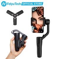 FeiyuTech Vlog כיס 3-ציר כף יד מיני טלפון Gimbal Smartphone מייצב עבור iPhone X 8 7 בתוספת, HUAWEI P20 MI סמסונג Note9