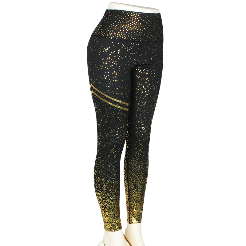 leggings with black and gold