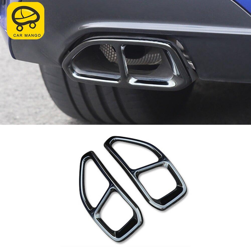 CarMango pour BMW série 3 G20 2020 voiture style queue tuyaux d'échappement silencieux cadre couverture garniture autocollant accessoires extérieurs