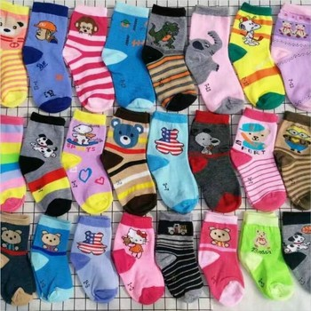 1pair Wholesale Lots Mixed Style Color Cotton Cartoon Animal Children Kids Girls Boys Floor Mid stockings 6p510 wholesale baby kids boutique clothing lots