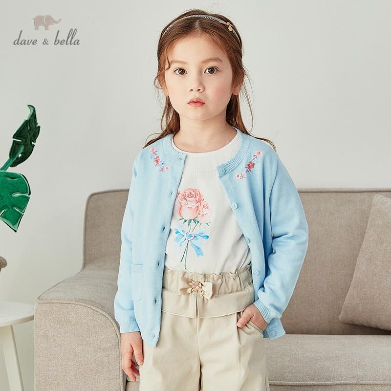 DKH16385 нижнее белье в стиле бренда dave bella/весенняя одежда для младенцев Одежда для маленьких девочек модные От 5 до 13 лет кардиган с цветочным принтом для детей ясельного возраста, пальто для детей, милый вязаный свитер|Свитера| | АлиЭкспресс