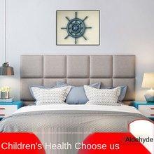 Cabecero de cama para decoración de dormitorio, paquete suave anticolisión, Tatami 3d, pegatinas de pared, decoración de pared, reposacabezas de Cabecero