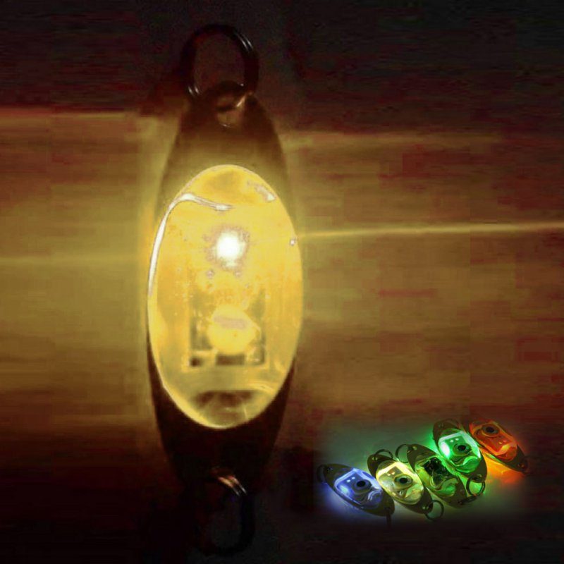 1pc Fishing Light 6 Cm/2.4 Inch Flash Lamp LED Deep Drop Underwater Eye Shape Fishing Squid Fish Lure Light