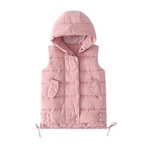 Image 5 - Fashion 2020 Kids Girls Vest Children Autumn Winter Baby Outwear Fashion Kids Down Jackets Wadded Spring Waistcoat for Teenage