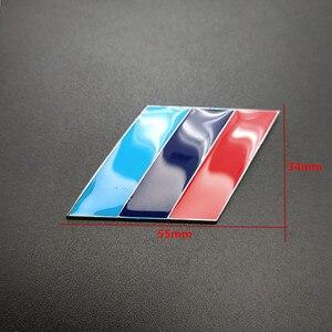 2 шт. новый автомобильный Стайлинг 3D металлический значок M эмблема наклейка для Bmw x1 x3 x5 x6 z4 f10 f20 f30 e36 e39 e46 e60 e90 автомобильные аксессуары