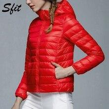 Sfit женская зимняя куртка с капюшоном, парка, новая мода, повседневная Осенняя Женская куртка ярких цветов, верхняя одежда с длинным рукавом