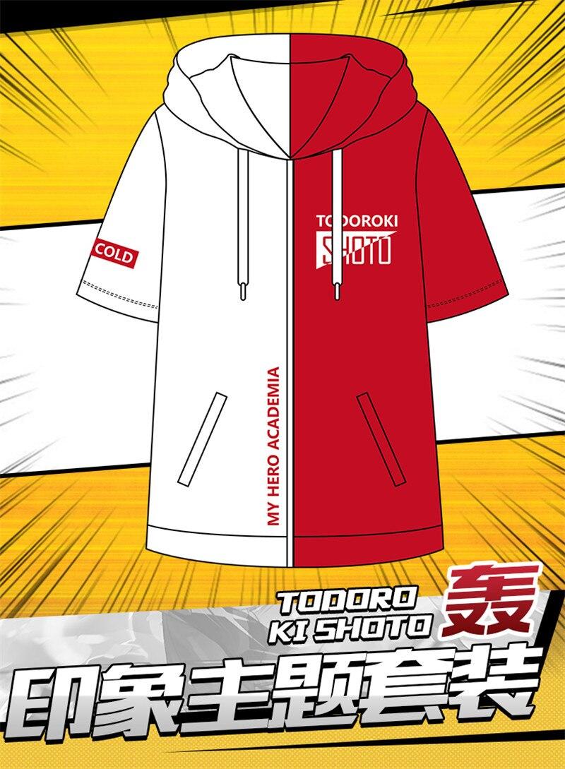 Boku no My Hero Academia Shoto Todoroki Cosplay Casual T-shirt Coat Shirt Top Hoodie Sweatshirts Hat Cosplay constume