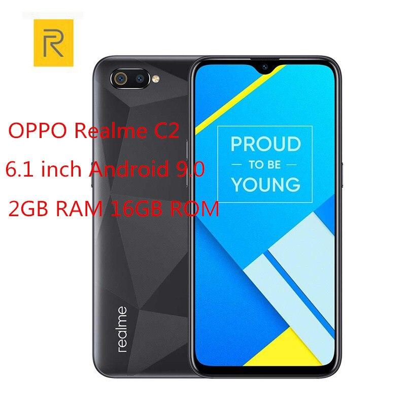 Купить Realme C2 4G смартфон 6,1 дюймов Android 9,0 Helio P22 Octa Core 13.0MP + 2.0MP камера заднего вида 4000 мАч Лицо ID мобильные телефоны на Алиэкспресс