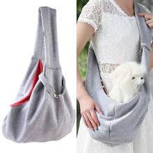 Pet filhote de cachorro transportadora saco gatos filhote de cachorro viagem ao ar livre saco de ombro do cão algodão único conforto estilingue bolsa