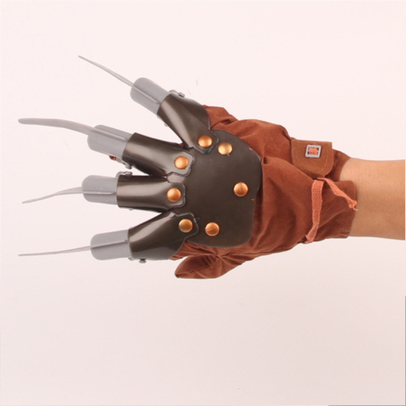Creative Halloween Men Freddy Krueger Gloves Wolverine Ghost Claw Gloves Fancy Dress Gloves Masquerade Show X-Men Cosplay Props