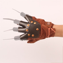 Creative Halloween Men Freddy Krueger Gloves Wolverine Ghost Claw Fancy Dress Masquerade Show X-Men Cosplay Props