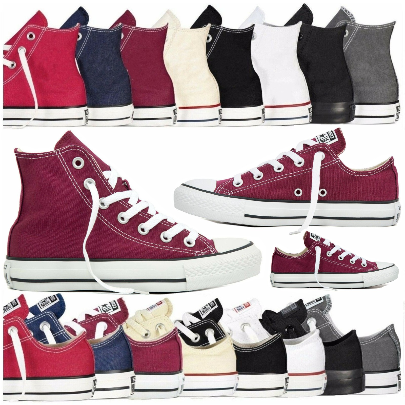 Unisex Women Men Fashion Authentic Classic Allstar Designer Chuck-Taylor Low High Top Canvas Vulcanize Shoes Athletic Sneakers