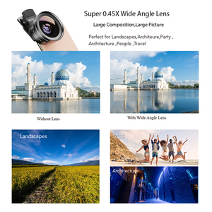Image 2 - APEXEL 9in1 37mm Gradient filter Lens Kit 0.45x wide+15x macro Lens Gradual Blue Red Color Filter+CPL+ND+Star Filter for phones