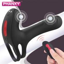Phanxy casais g-ponto vibrador mamilos estimulador vagina pênis de longa duração galo anel ereção atraso ejaculação brinquedos sexuais adultos