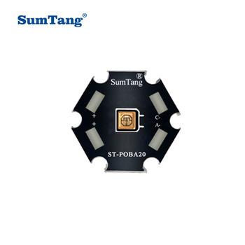 10 sztuk partia UVC LED lampy koraliki do sprzętu dezynfekcji UV 265-285nm SMD Chip LED ciemnofioletowe światła ultrafioletowe UVA + UVC UVC tanie i dobre opinie Sumtang CN (pochodzenie) KULKA ROHS 0 5W 60mA 1W 150mA 0 5W 1W 0 5W 9-11V 1W 6-8V 395-405nm 265-285nm diameter 20mm thickness 2mm
