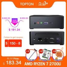 Мини-ПК AMD Ryzen R5 3550H R7 2700U Vega Graphic 2 * DDR4 M.2 NVMe + 2,5 ''SATA игровой ПК Windows 10 4K HDMI2.0 DP AC WiFi