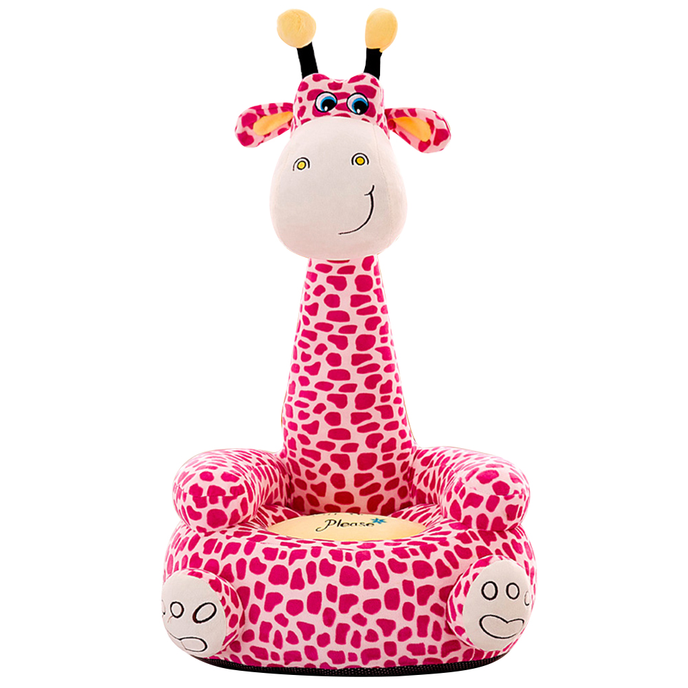 Cute Giraffe Baby Sofa Seat Cover Learning To Sit Chair Case Without Filler Baby Portable Chair Gifts For Children