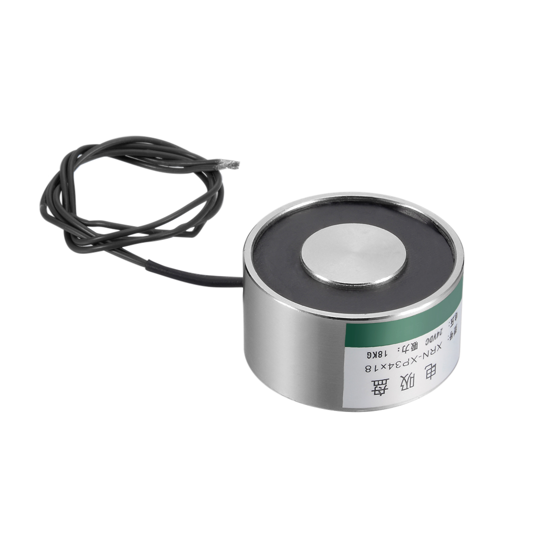 Uxcell 34mm X 18mm DC24V 180N Sucking Disc Solenoid Lift Holding Electromagnet