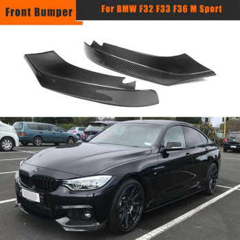 F36 Front Bumper Splitters Spoiler for BMW 4 Series F32 F33 435i M Sport 2014-2017 Car Front Bumper Splitters Lip FRP image