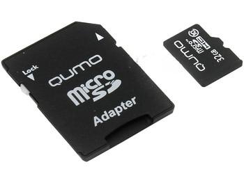 Memory card 32GB-qumo microSDHC Class 10 qm32gmicsdhc10 with SD adapter (original!)